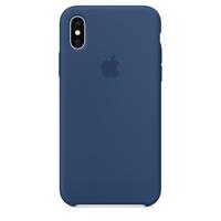 Coque Apple en silicone pour iPhone X - Bleu de cobalt