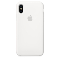 Coque Apple en silicone pour iPhone X - Blanc
