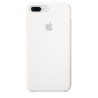 Coque Apple en silicone pour iPhone 8 Plus / 7 Plus - Blanc