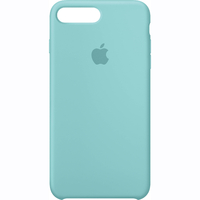 Coque Apple en silicone pour iPhone 8 Plus / 7 Plus - Sea Blue