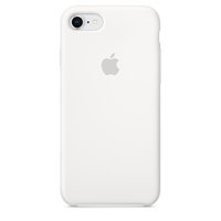 Coque Apple en silicone pour iPhone 8 / 7 - Blanc
