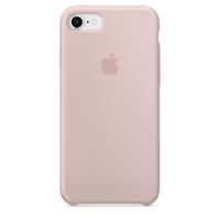 Coque Apple en silicone pour iPhone 8 / 7 - Rose des sables
