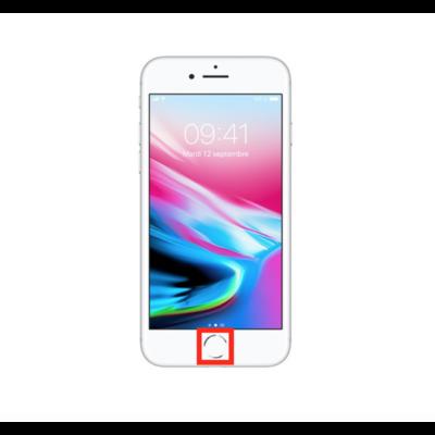 reparation. bouton home centrale iphone 8 plus 8+ reparateur saint-etienne remplacement villars saint-victor aurec-sur-loire l'etrat talaudiere