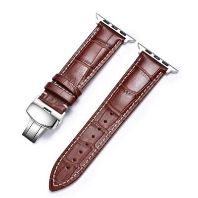 Bracelet en cuir marron pour Apple Watch 38:40mm st-etienne lyon roanne villars unieux chamboeuf rive de gier givors