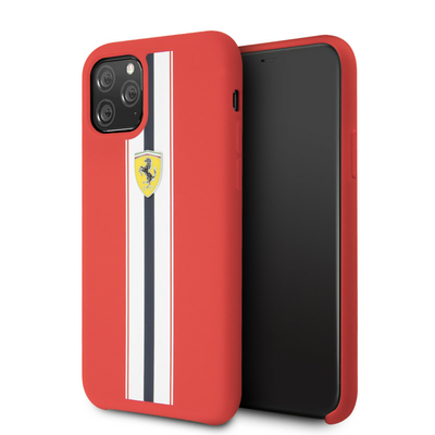 coque-SAINT-ETIENNE-en-silicone-rouge-avec-bandes-blanches-et-noires-compatible-apple-iphone-11-pro-ferrari