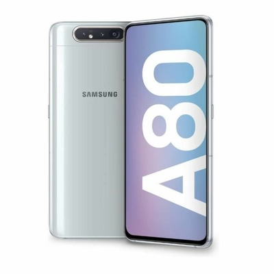 Remplacement vitre arrière Samsung Galaxy A80 A805F argent saint-etienne mobishop