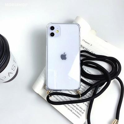 coque-antichoc-cordon-noir-iphone-XR-saint-etienne-mobishop-apple-silicone-tendance