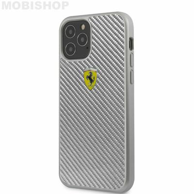 coque-fibre-de-carbone-grise-avec-logo-ferrari-pour-apple-iphone-12-61-et-61-pro-ferrari