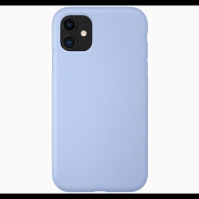 Coque silicone iPhone 11 bleu lila turquoise