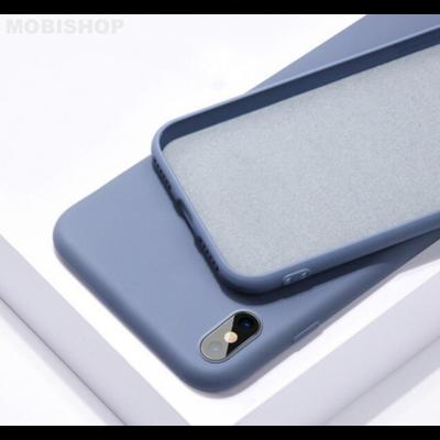 Coque silicone iPhone XR bleu baltique saint-etienne