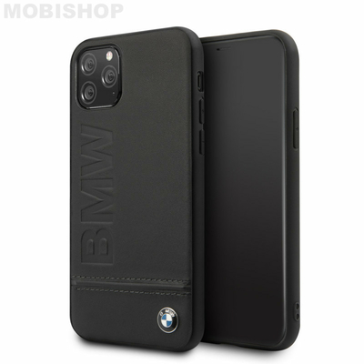 coque-simili-cuir-noire-avec-sigle-bmw-compatible-apple-iphone-11-pro-bmw