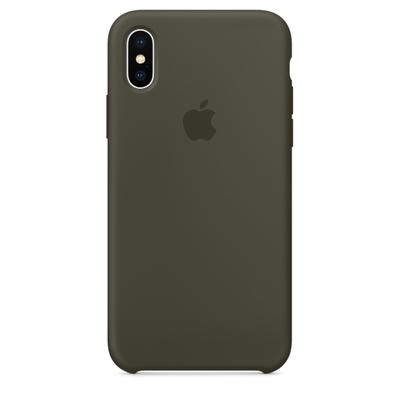 Coque en silicone pour iPhone X - Olive sombre apple saint-etienne st