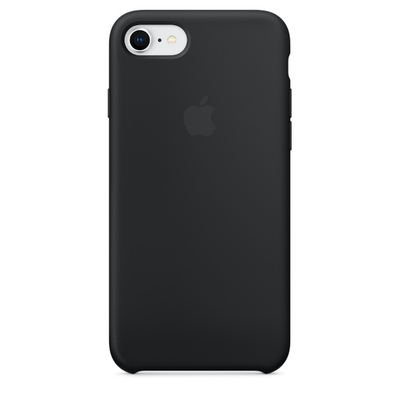 Coque en silicone pour iPhone 8  7 - Noir saint-etienne apple mobishop
