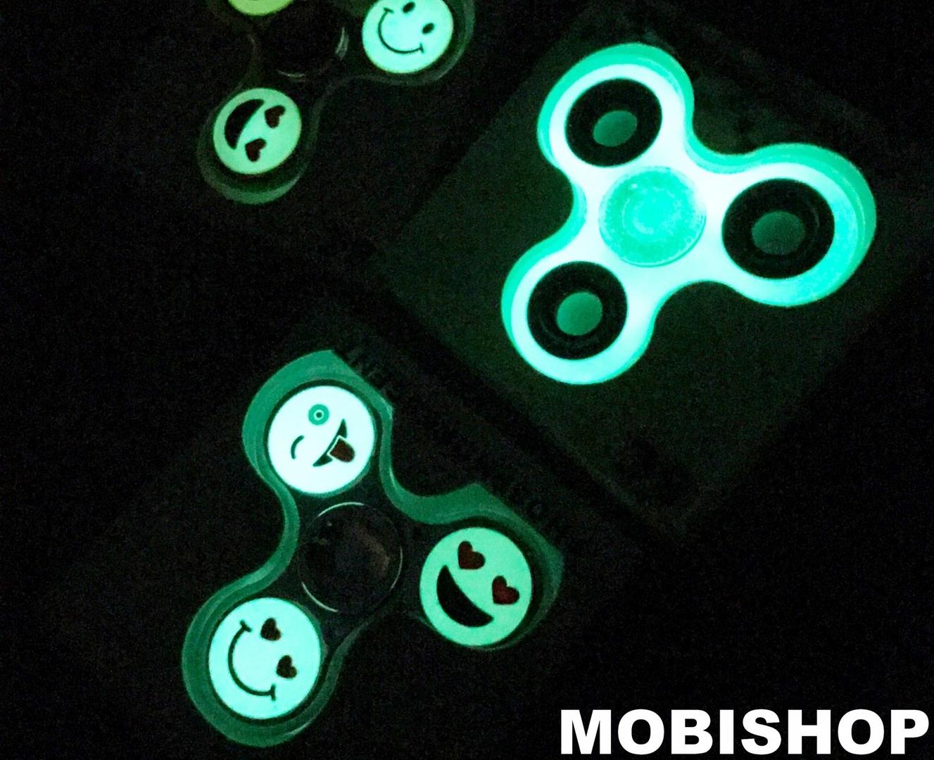 Hand spinner smile phosphorescent chrome hand spinner - Luminaire st etienne ...