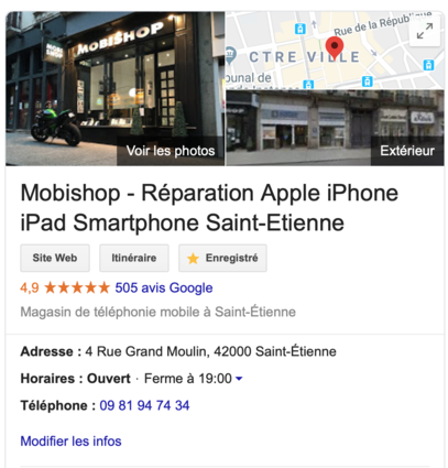 mobishop reparation apple smartphone saint-etienne boutique