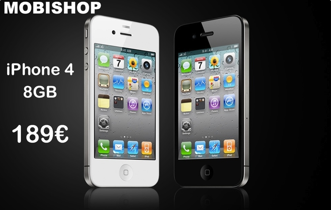 iphone 4 disponibles chez mobishop actualit s mobishop. Black Bedroom Furniture Sets. Home Design Ideas