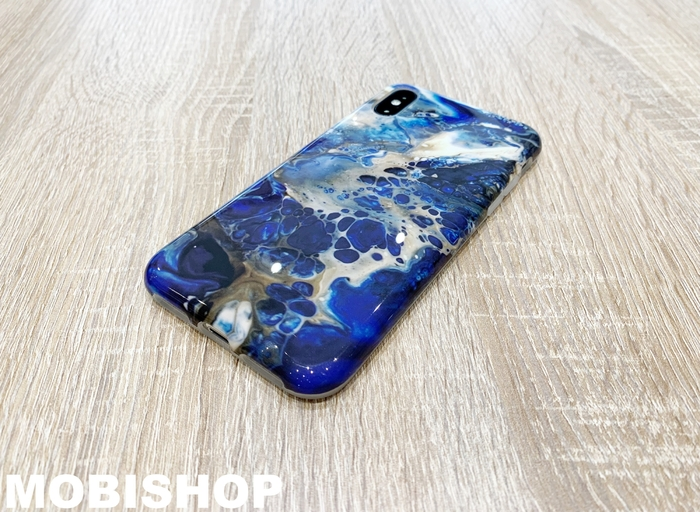 coque case marbre apple iphone X 10 saint-etienne bleu mobi shop rive de gier roanne sury le contal saint-galmier lyon