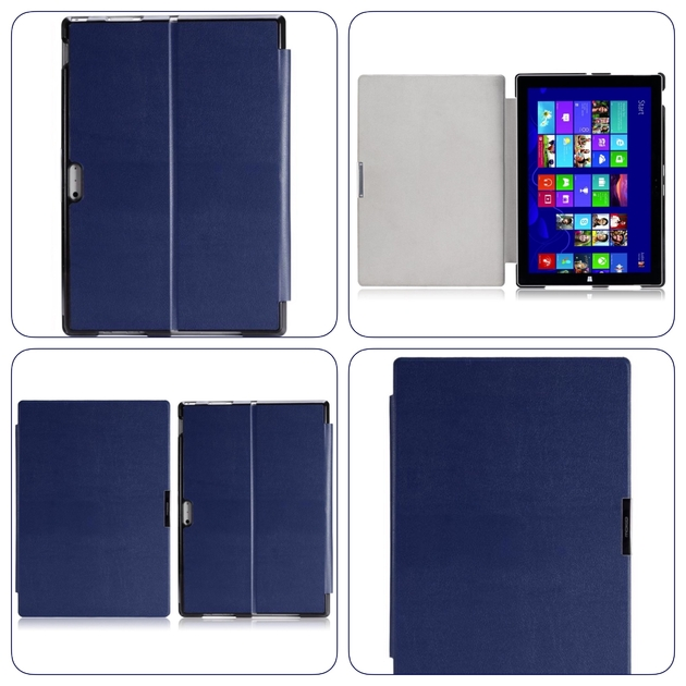 etui folio protection surface pro 4 multi angles bleu surface pro 4 etuis folios housses. Black Bedroom Furniture Sets. Home Design Ideas