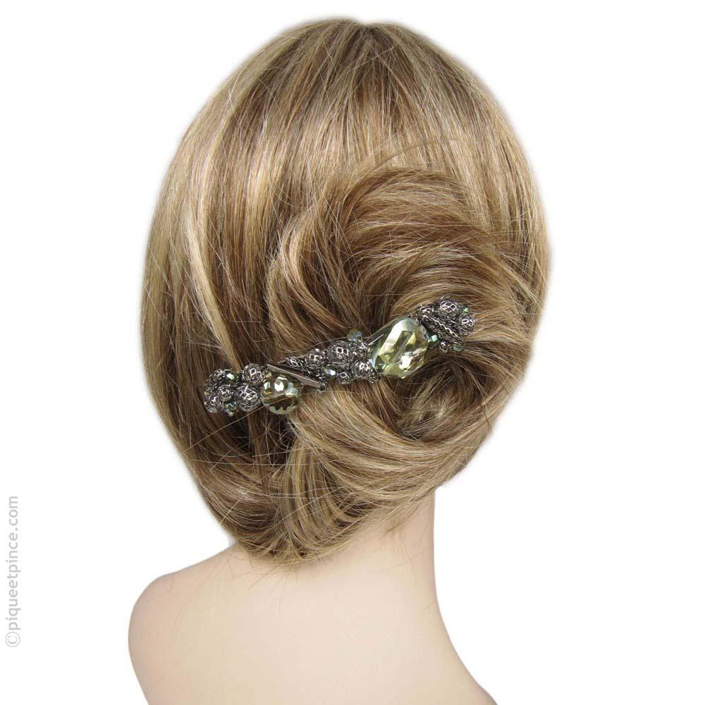 barrette à cheveux  verte - cantate