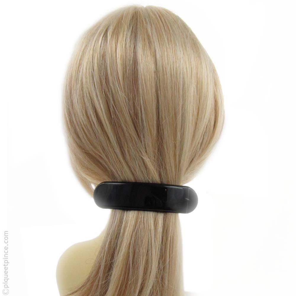 barrette cheveux arrondie noire