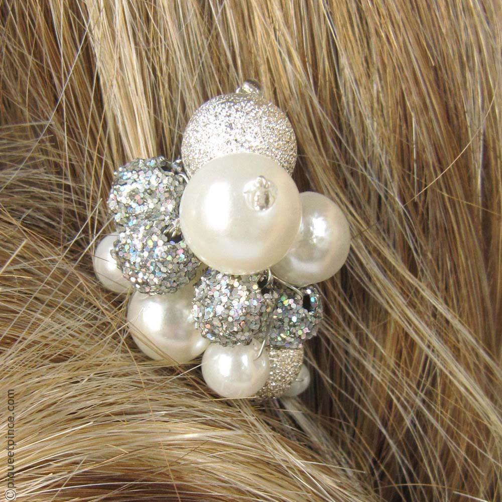 pic à cheveux perles