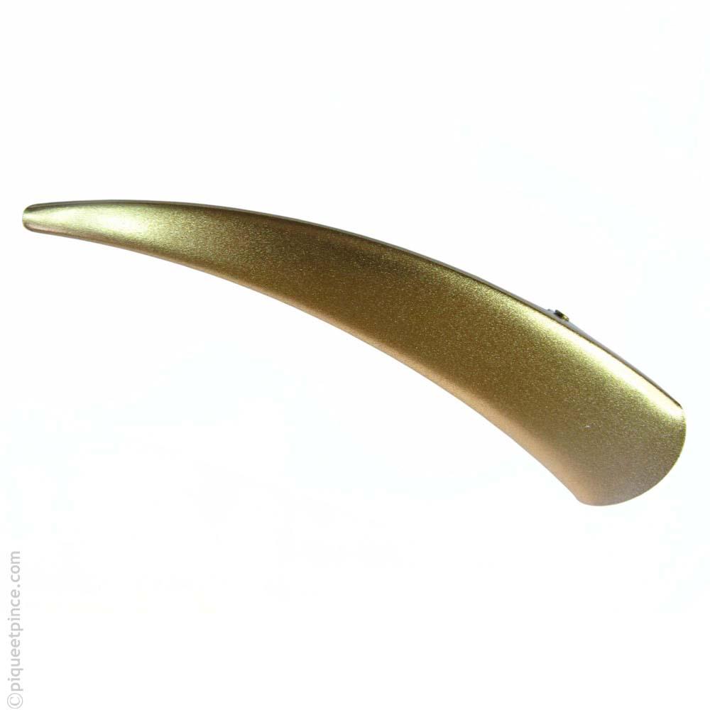 Pince à cheveux pélican large métal doré