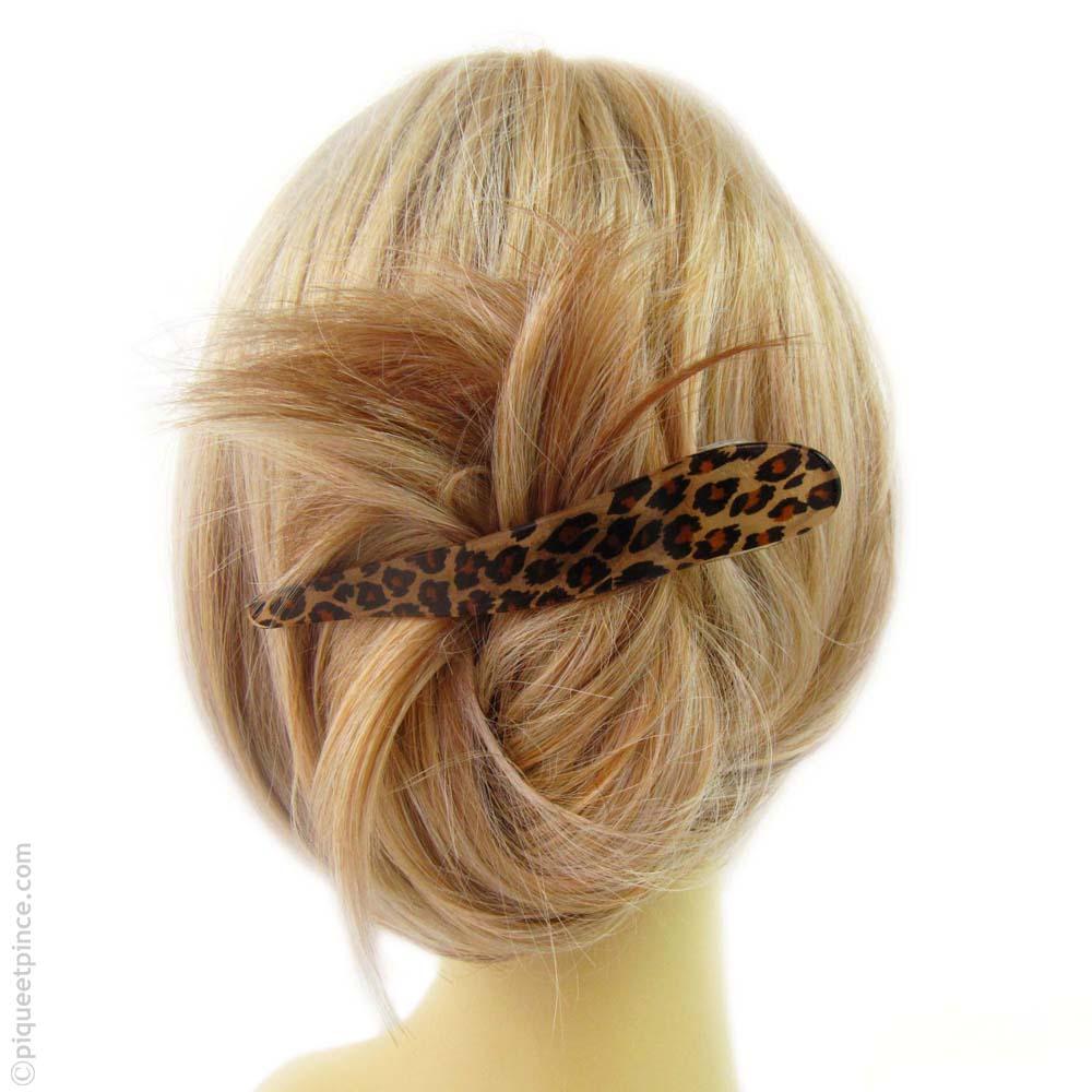 pince à cheveux léopard