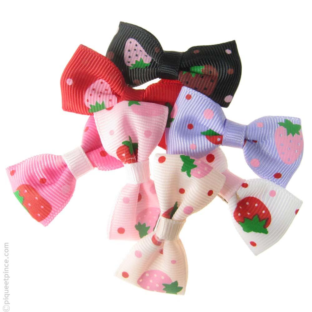 barrettes enfant  fraise