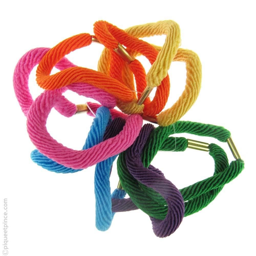 élastiques pour cheveux couleurs vives