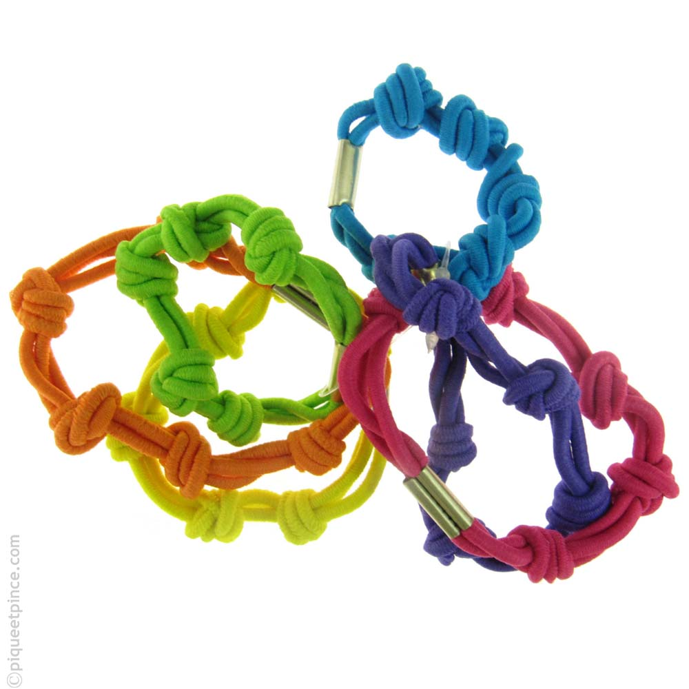 élastiques à cheveux couleurs vive