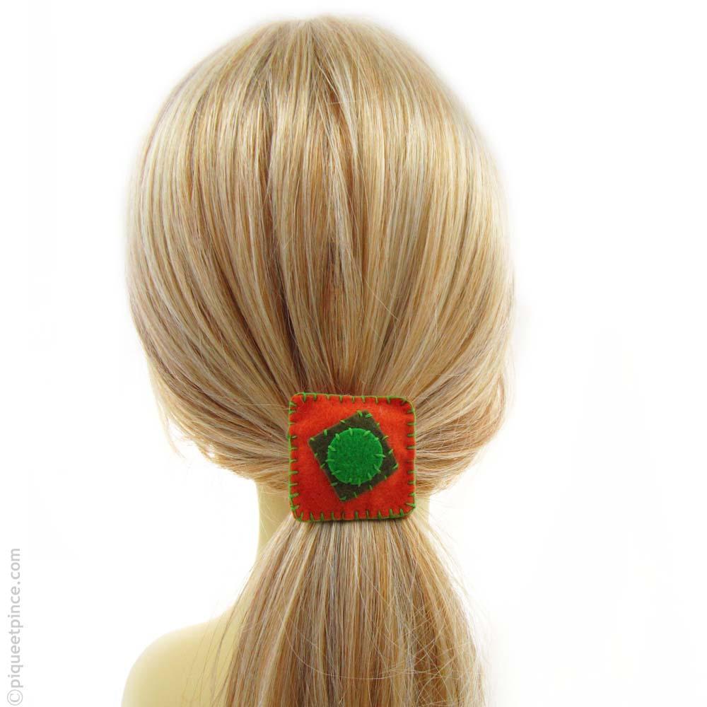 élastique cheveux orange