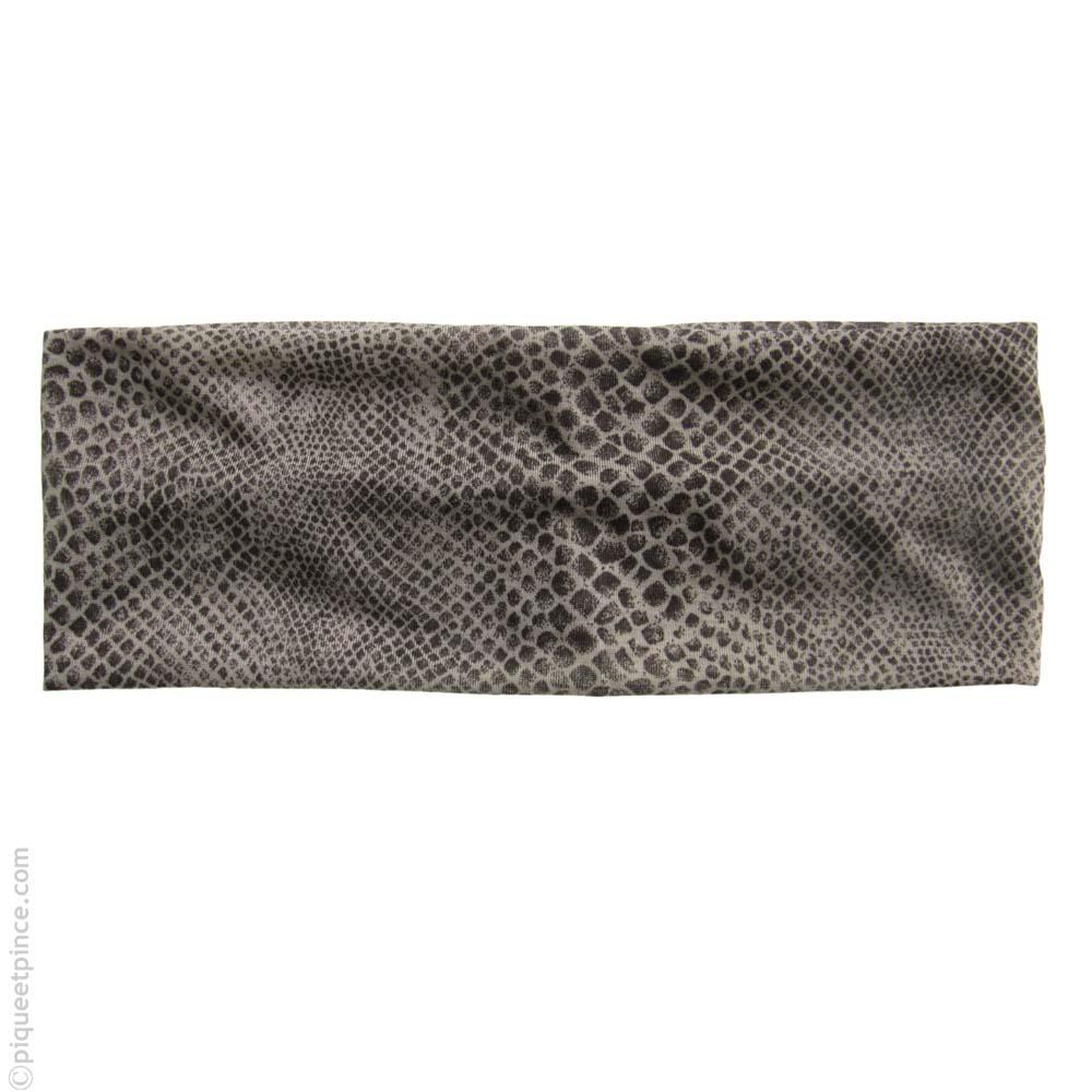 bandeau cheveux  imprimé reptil