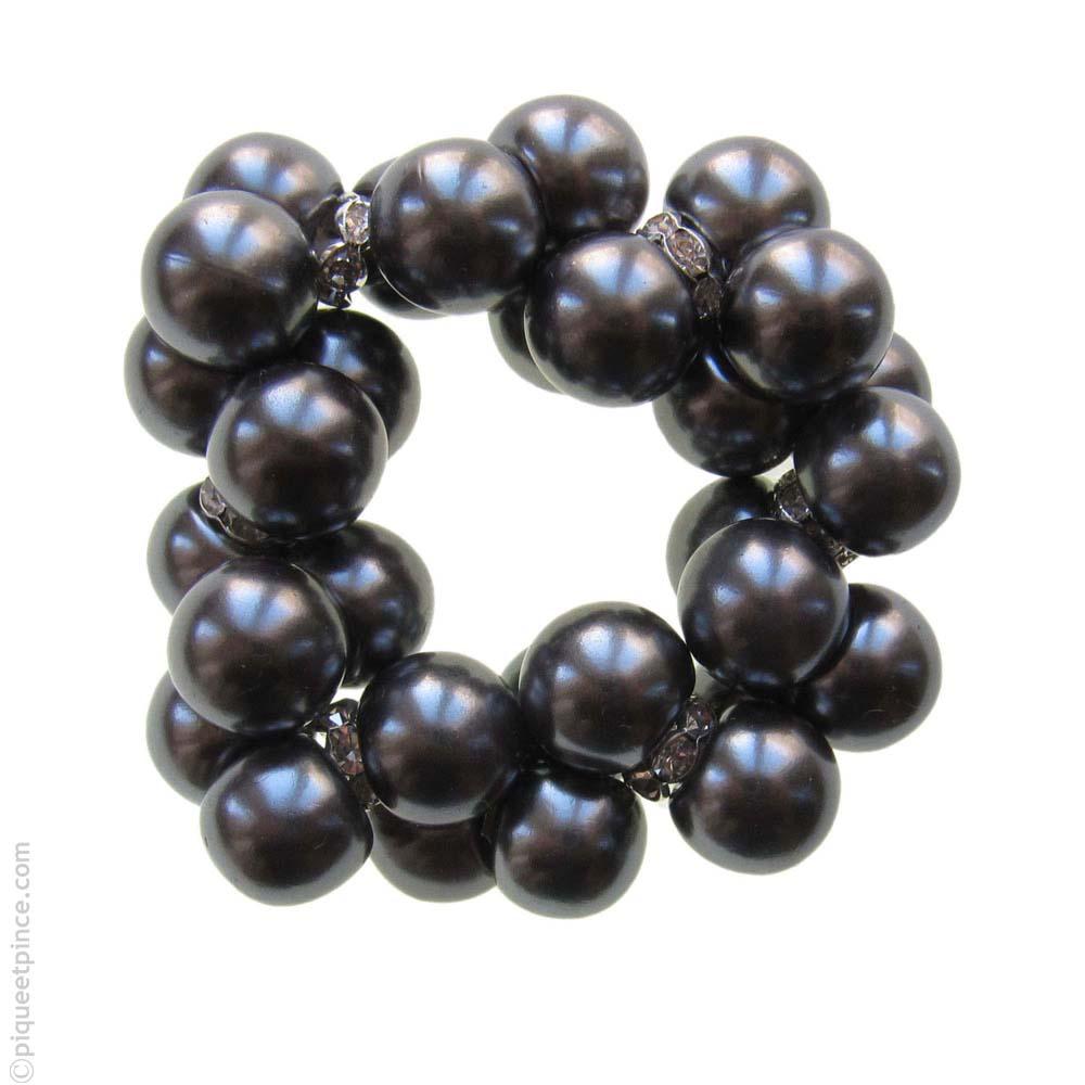 élastique cheveux perles et strass