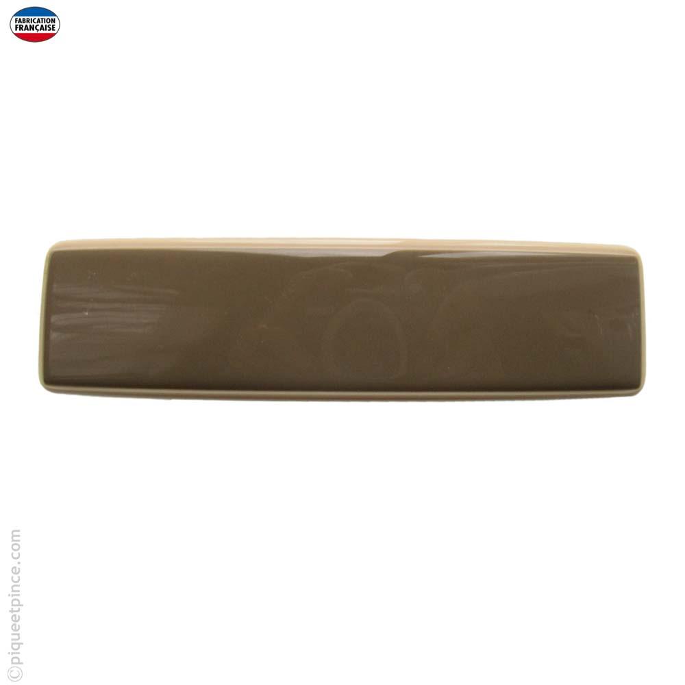 Barrette cheveux moka, taille moyenne, liseré crème