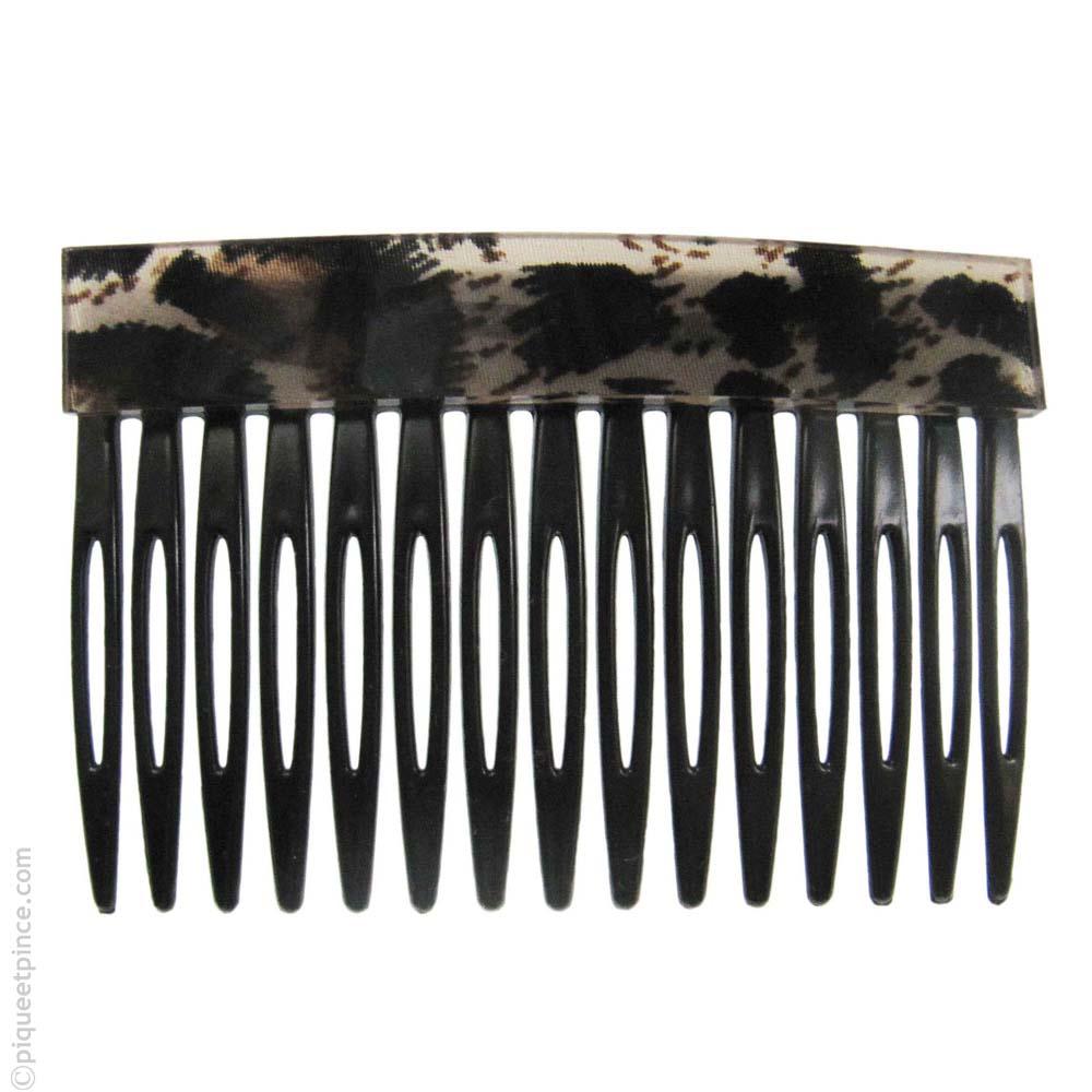 peigne à cheveux tigré