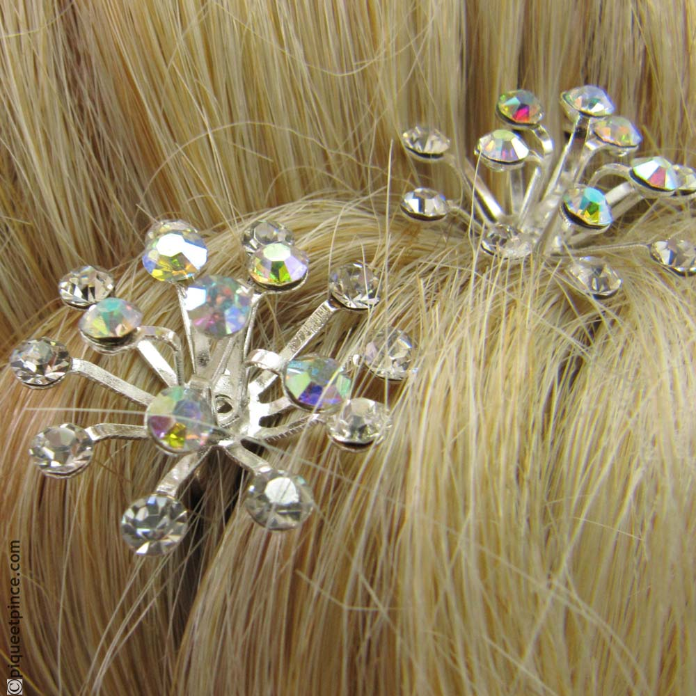 pic cheveux mariage strass