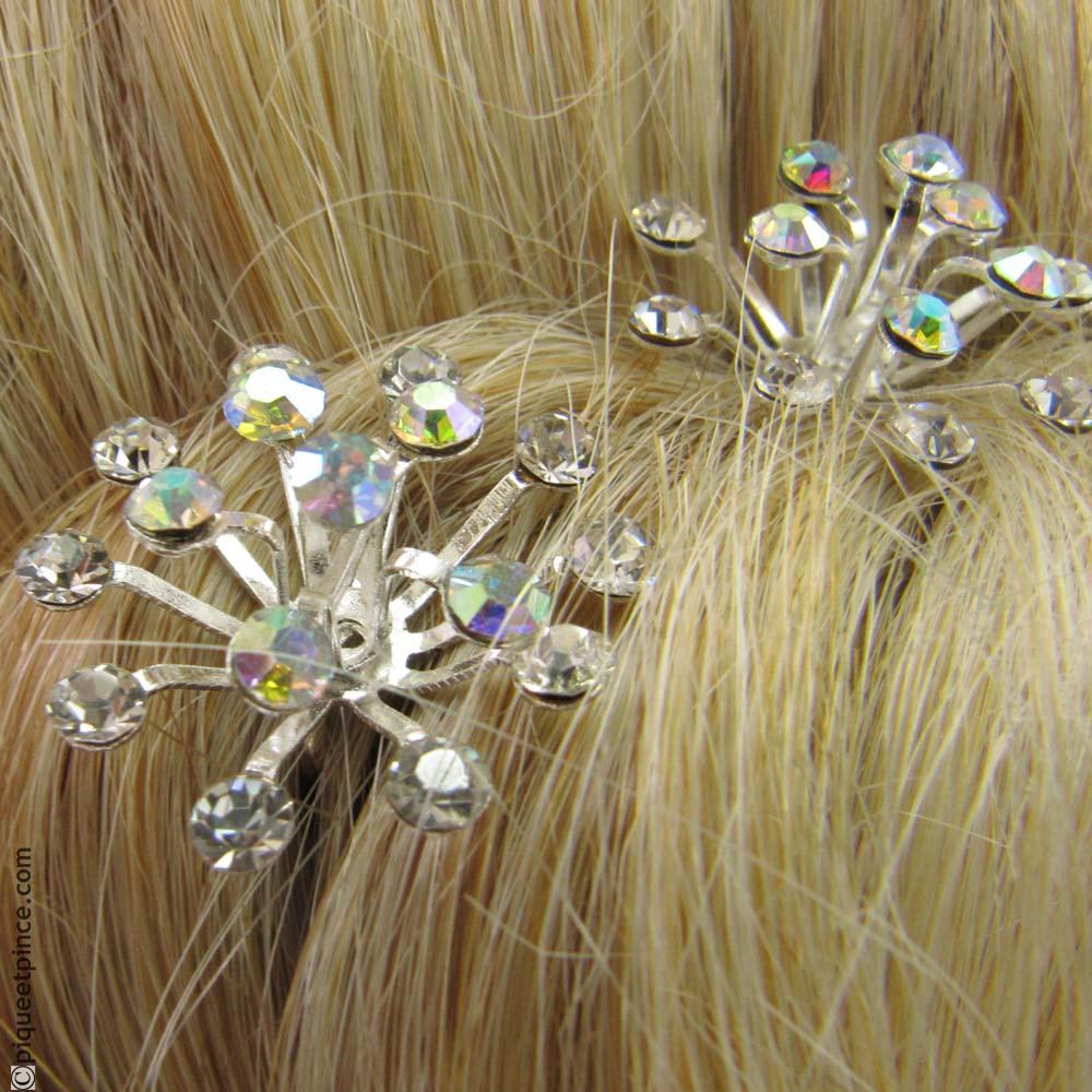 Épingle à cheveux  strass et branches