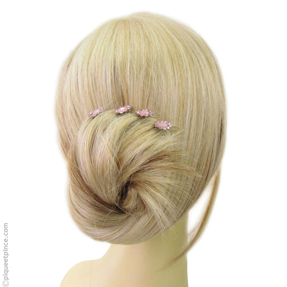 Pics cheveux - accessoire cheveux - fleur rose