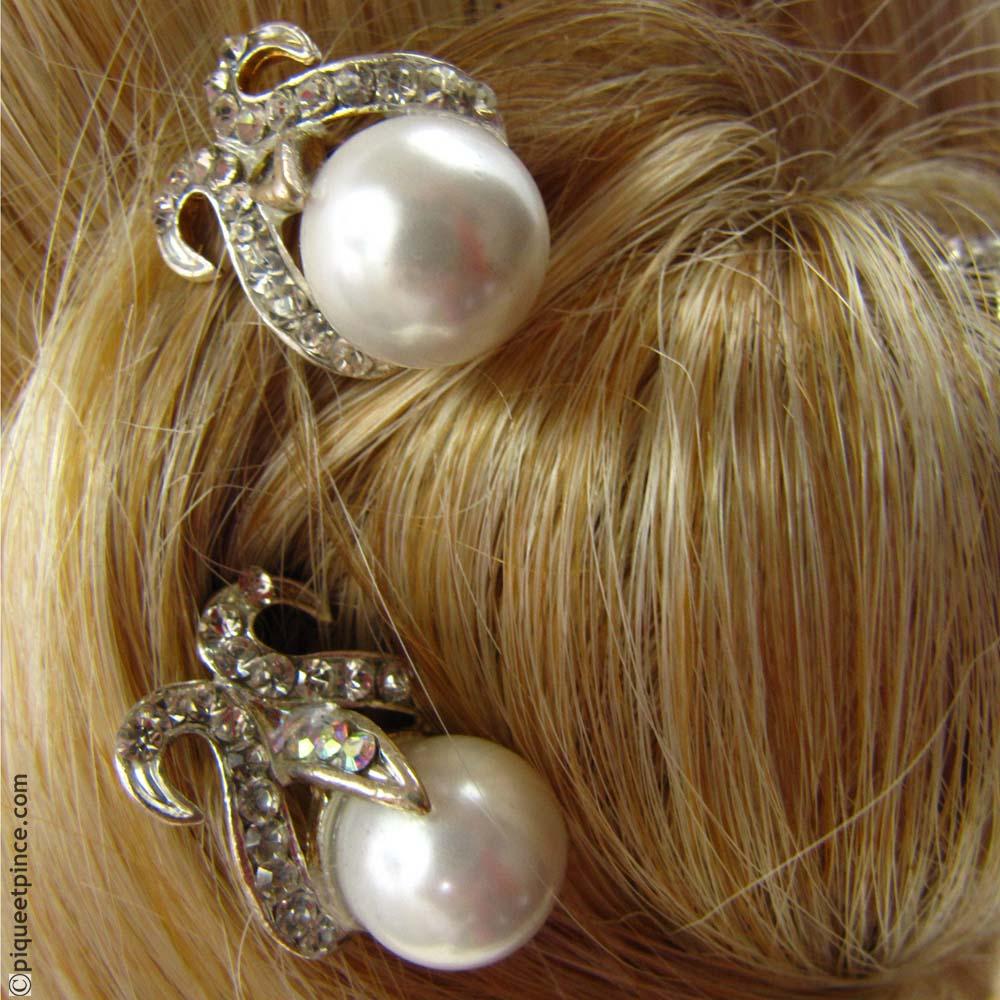 épingles à cheveux perle empire