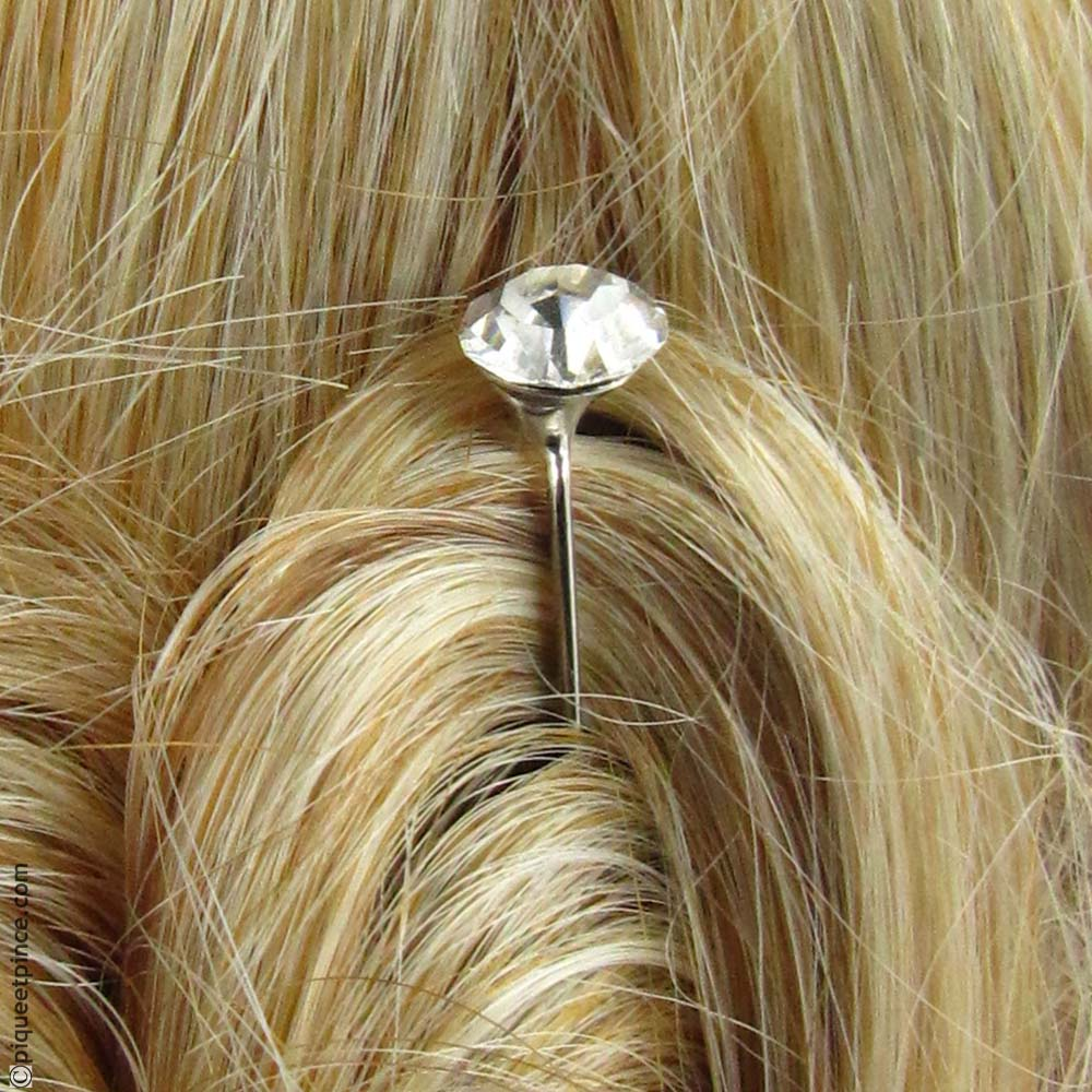 Épingle à chignon strass