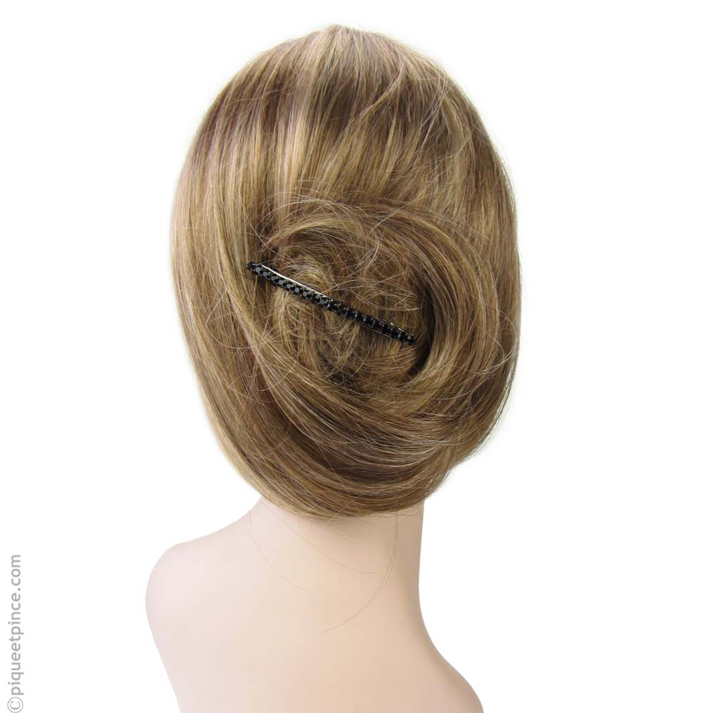 accessoire cheveux strass noirs
