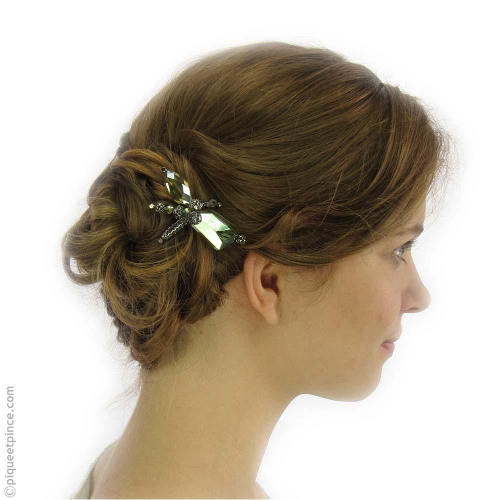 bijou cheveux pic vert
