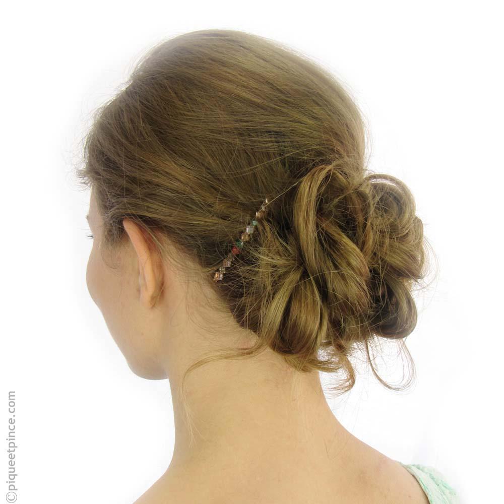 Barrette cheveux multicolore