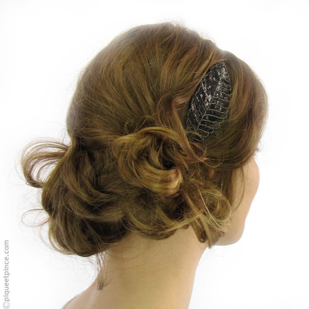 Headband sequins noir