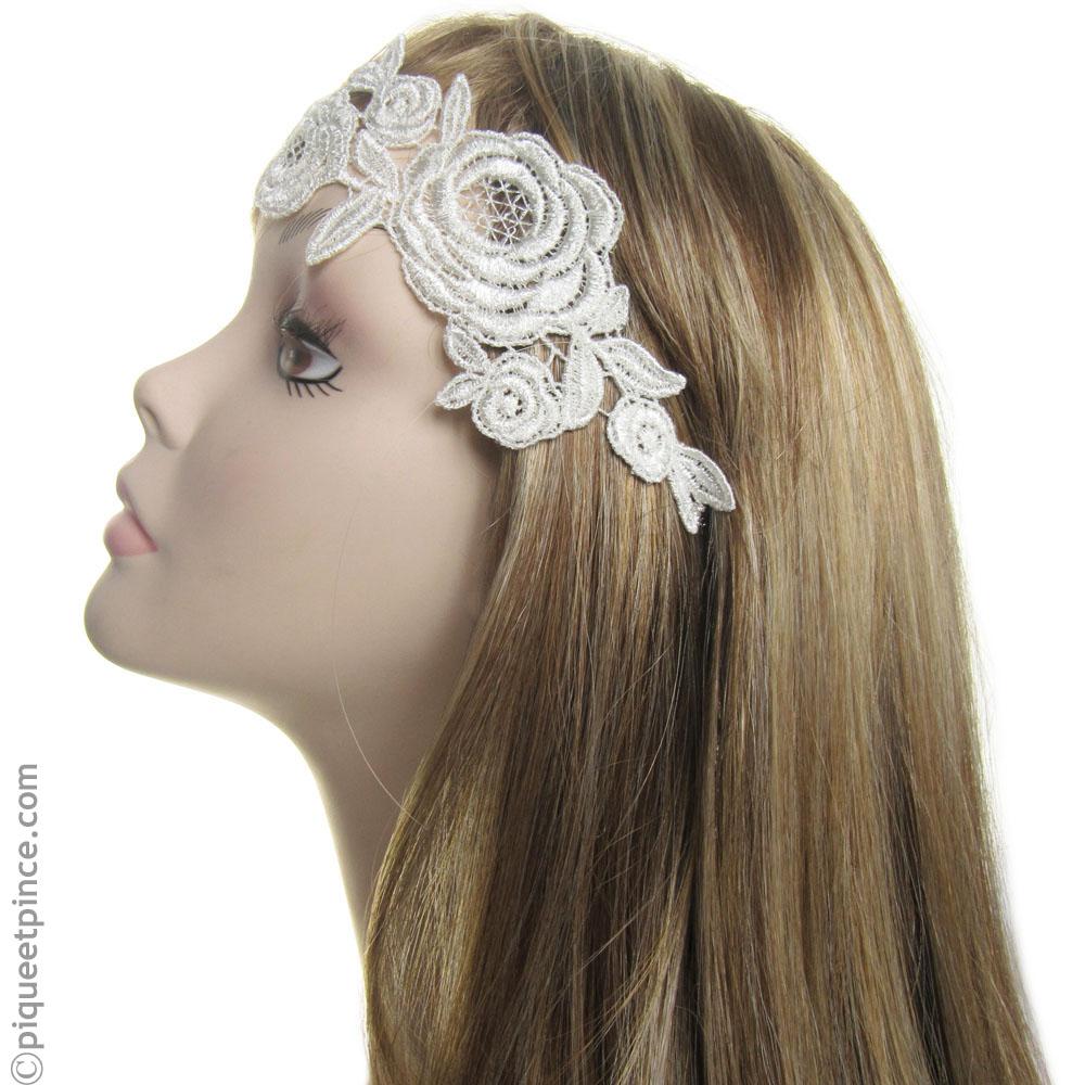 headband mariage dentelle r tro. Black Bedroom Furniture Sets. Home Design Ideas