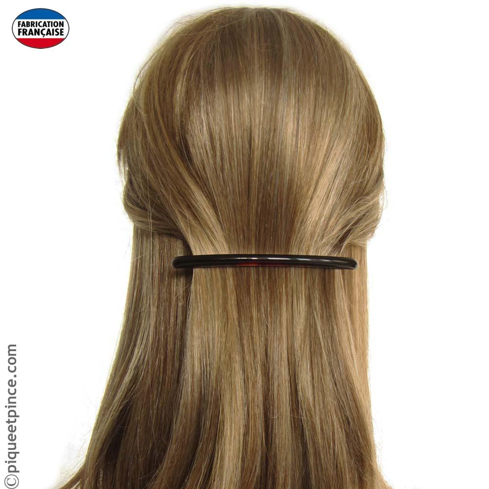 Barrette cheveux très fine vison foncé