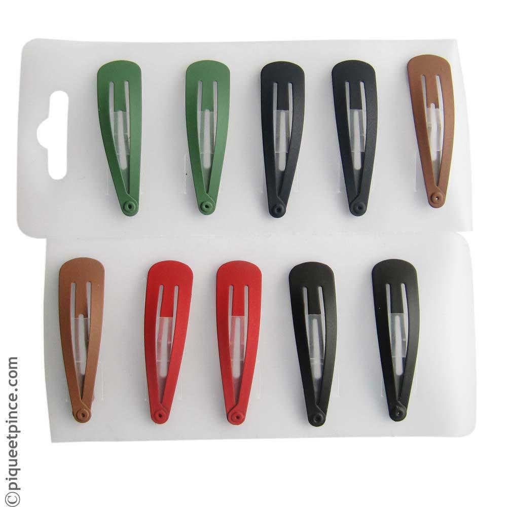 barrette clic clac mates colorées