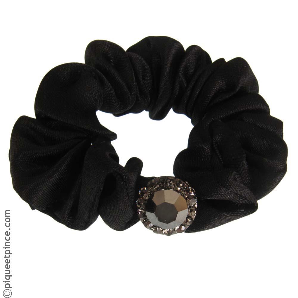 accessoire lastique noir et strass pour queue de cheval. Black Bedroom Furniture Sets. Home Design Ideas