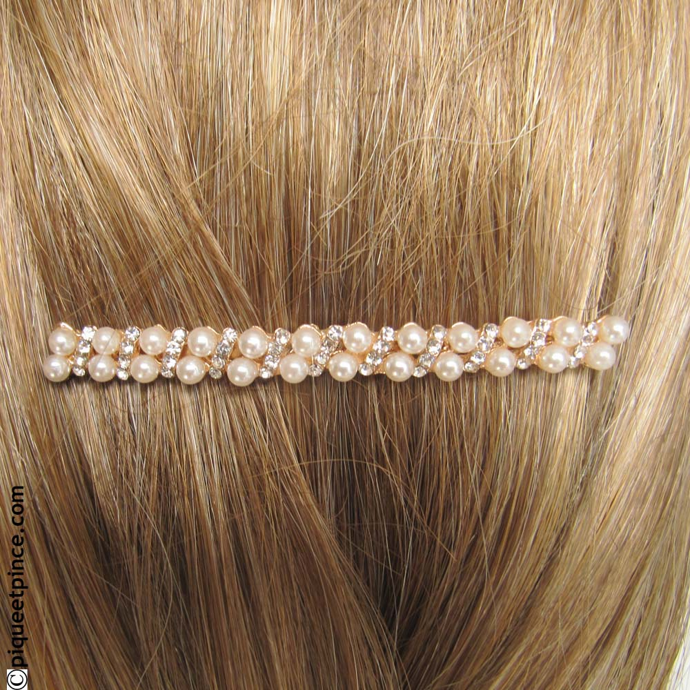 Accessoire cheveux mariage or perles et strass - Accessoires cheveux mariage perles ...