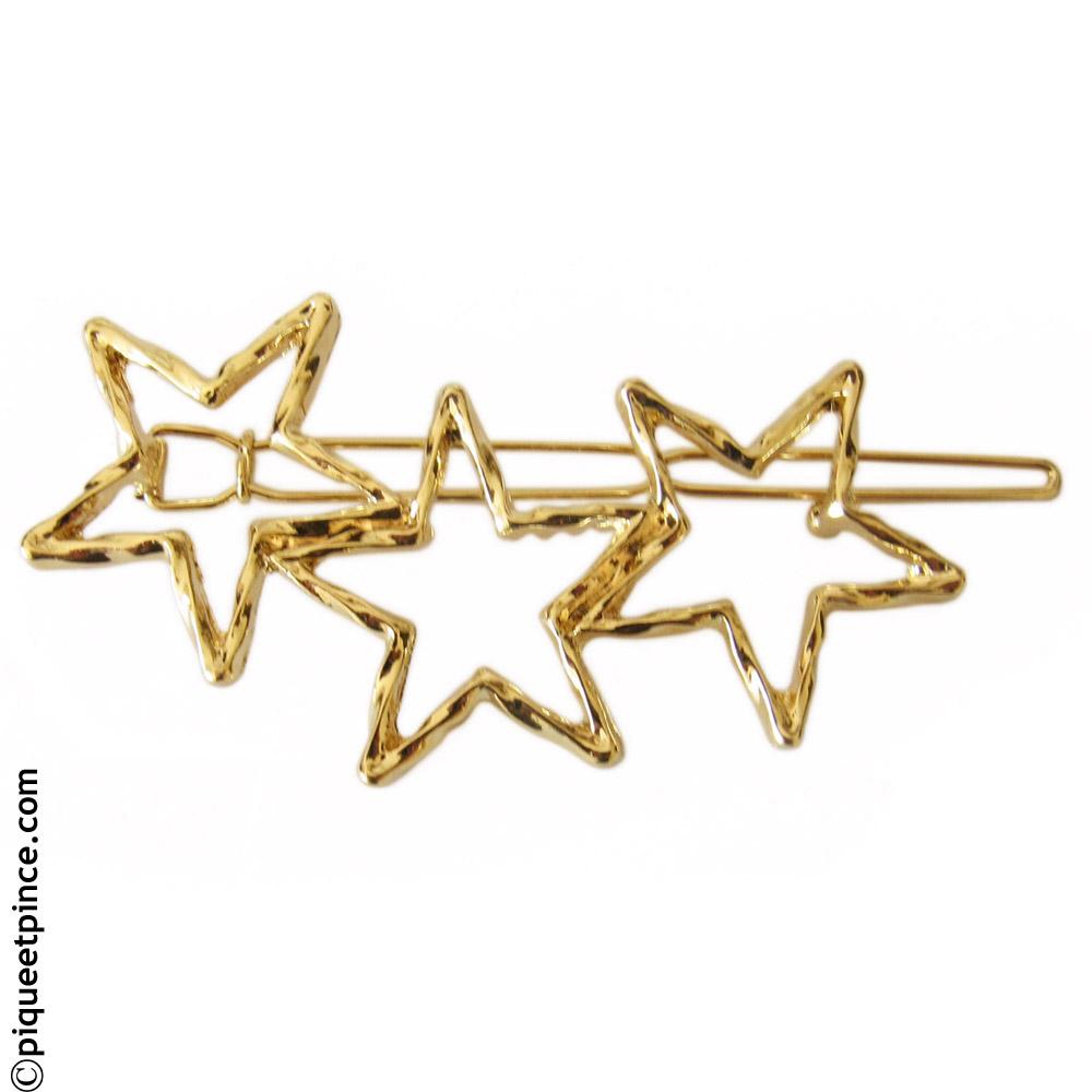 Barrette tendance étoiles 6,5 cm